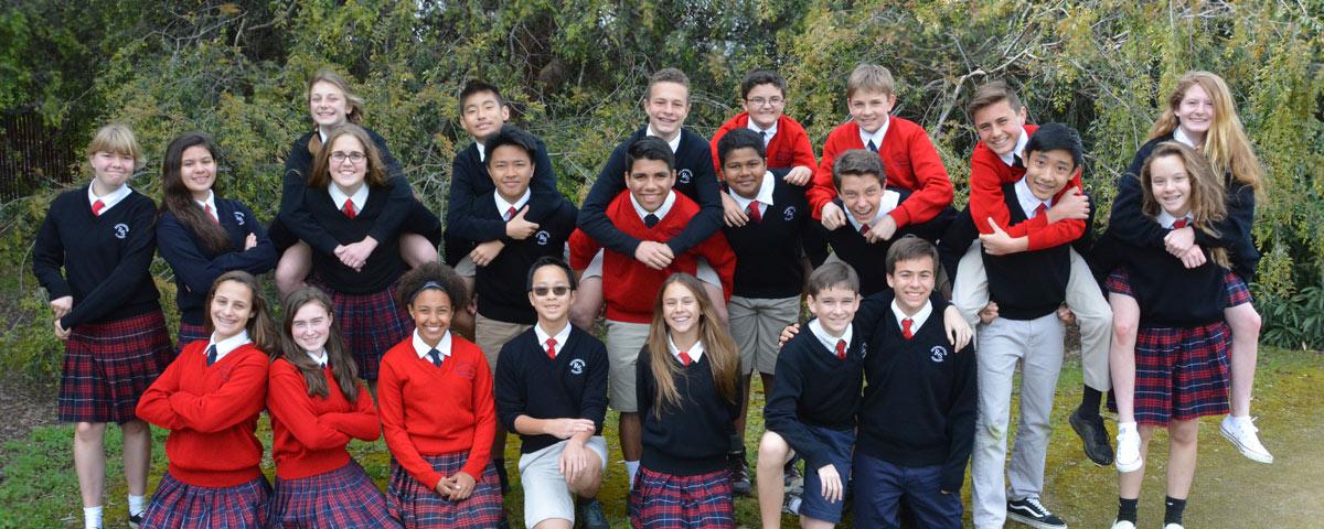 Students in uniforms - Resurrection School - Sunnyvale