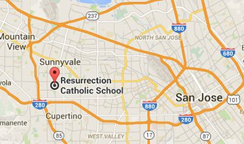 Map - Resurrection School in Sunnyvale - California